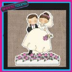 WEDDING IDEA BRIDE JUTE SHOPPING LADIES GIFT BAG 002